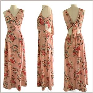 Minette floral dress with tie back